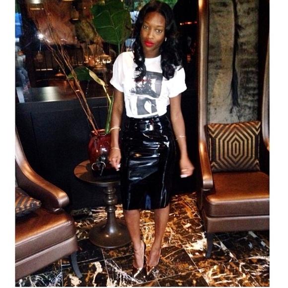 Topshop Dresses & Skirts - Vinyl Skirt (PVC)